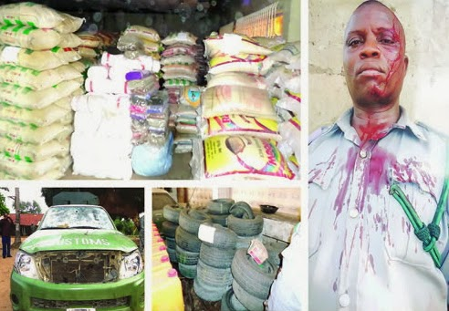 rice smugglers customs ogun state