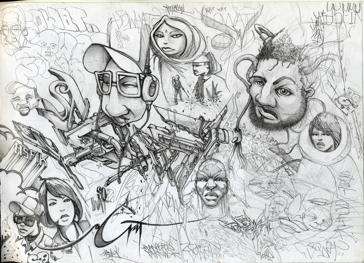 Creative Graffiti: Graffiti Sketches