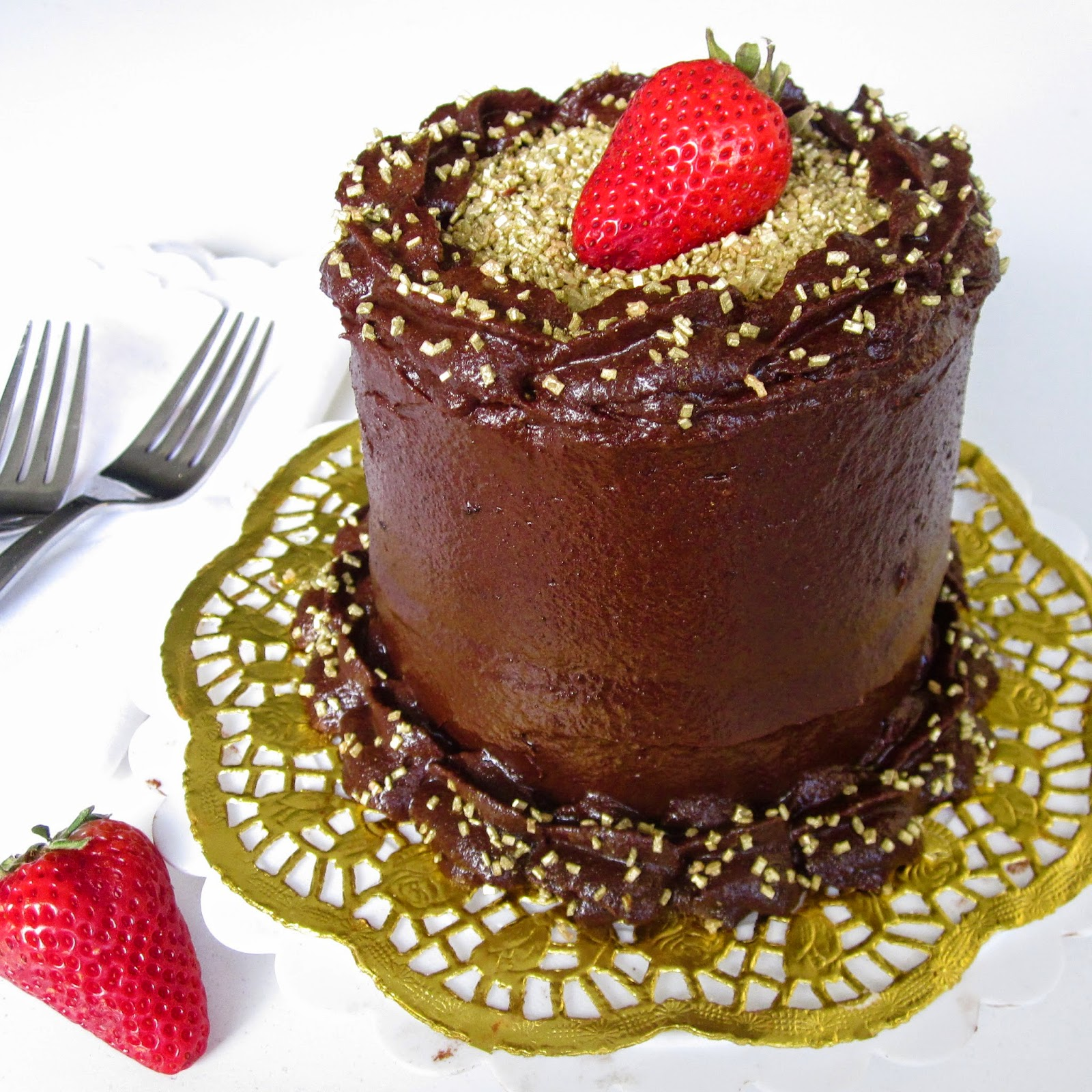 Mini 4 Inch Double Chocolate Layer Cake For Two The