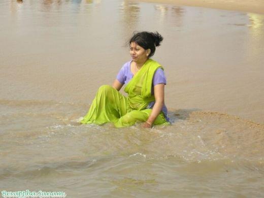 Warm Nude Indian River Bath Photos