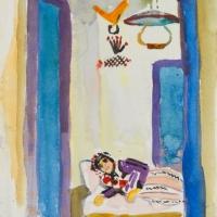 'Dona en un divan (Paul Klee)'