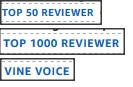 Amazon badges for top reviewer and vine voice