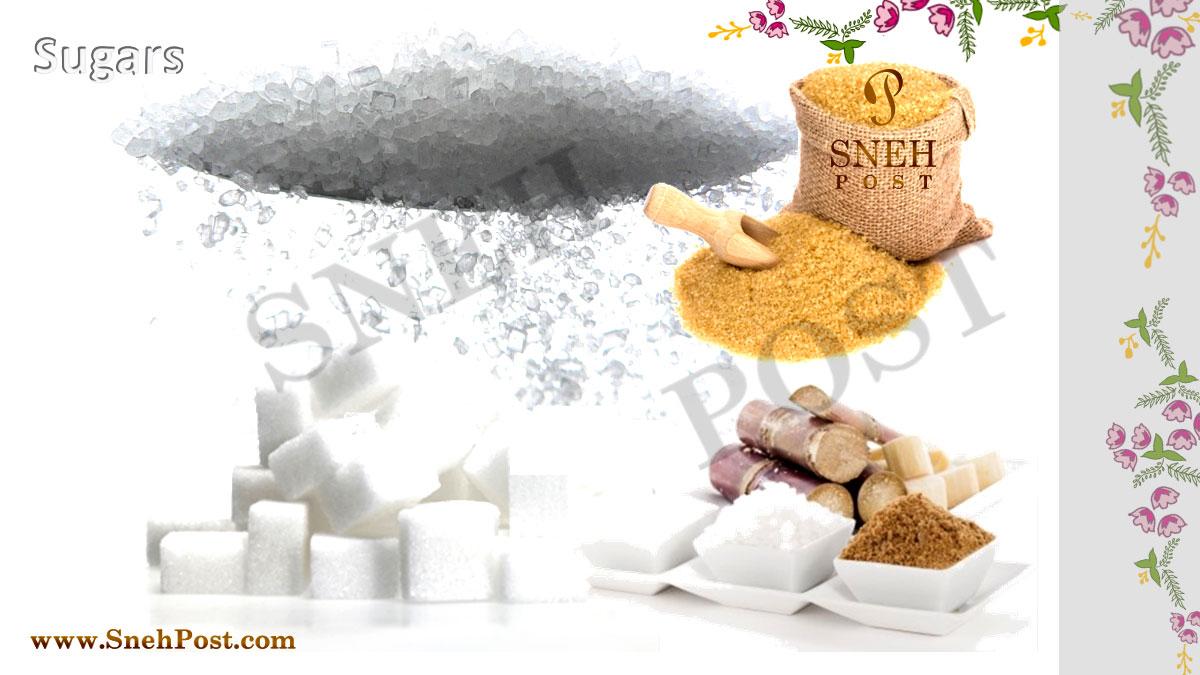 Simple Carbohydrates type: Various types of simple and complex sugars as Simple Carbohydrate rich food sources: Sugarcane, white sugar, brown sugar, white sugars cubes