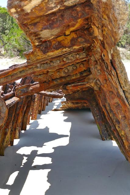 Bulwer Brecks Schiffs-Wracks Moreton Island Rost