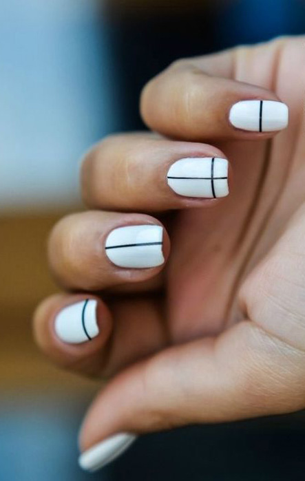 Line Art Nails : Spring nail art design trends miss rich