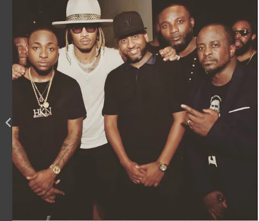 Davido Entertains American Rapper Future At US Party