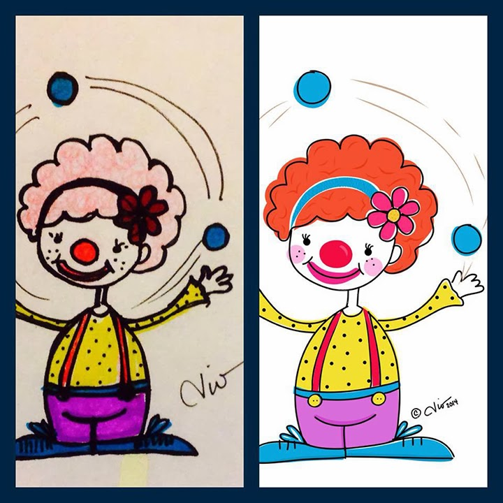 Juggling Clown Illustration by Dio Perez
