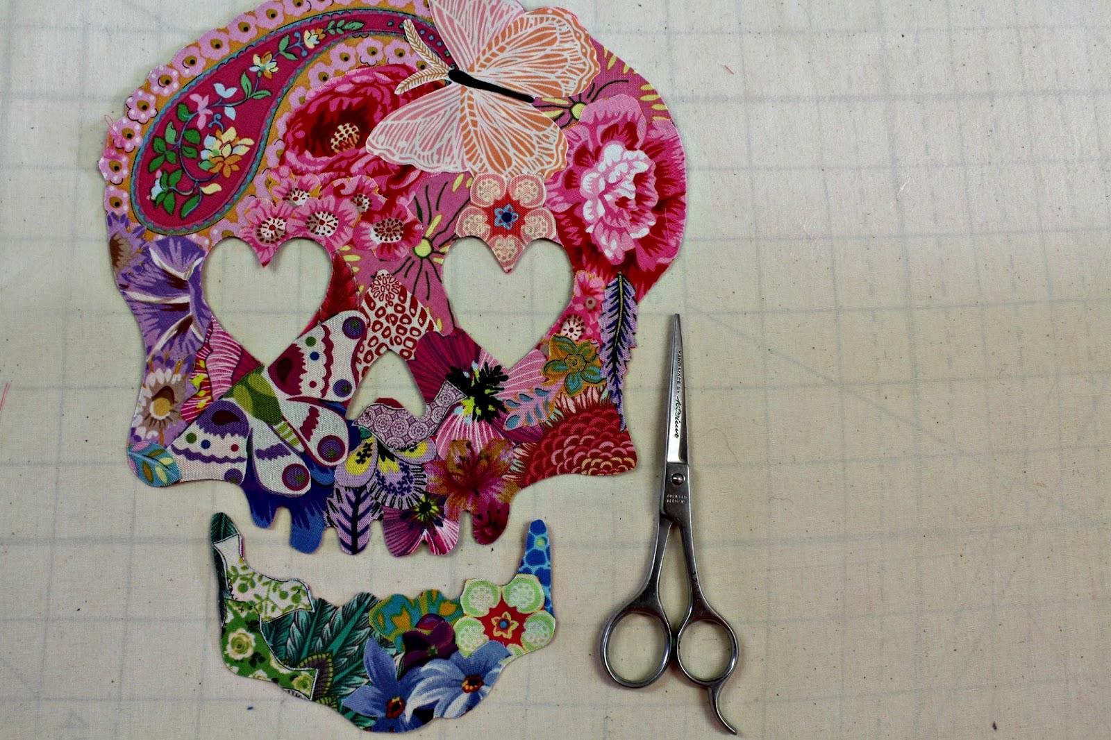 Creatin In The Sticks Collage Quilt A Sugar Skull