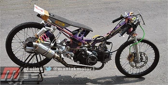 Galeri Foto Modifikasi Honda Karisma 125 Drag Bike