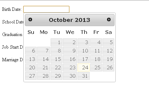 How to use multiple JQuery UI Date Picker or Datepicker in HTML or