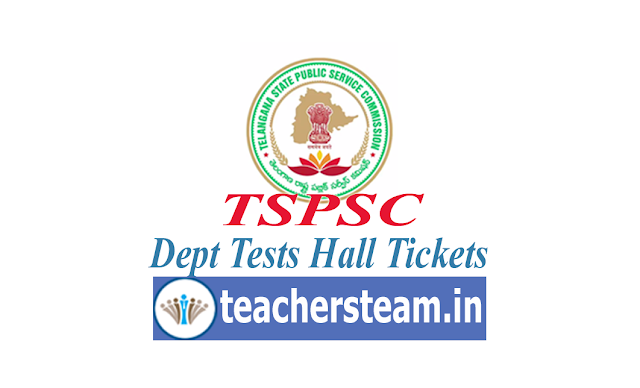 tspsc dept test hall tickets