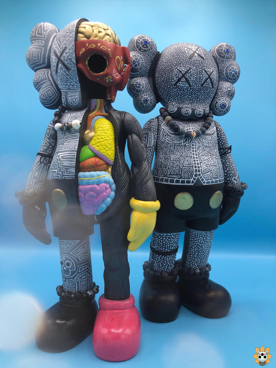 Custom (Bootleg) KAWS Companions by ink_visuals for