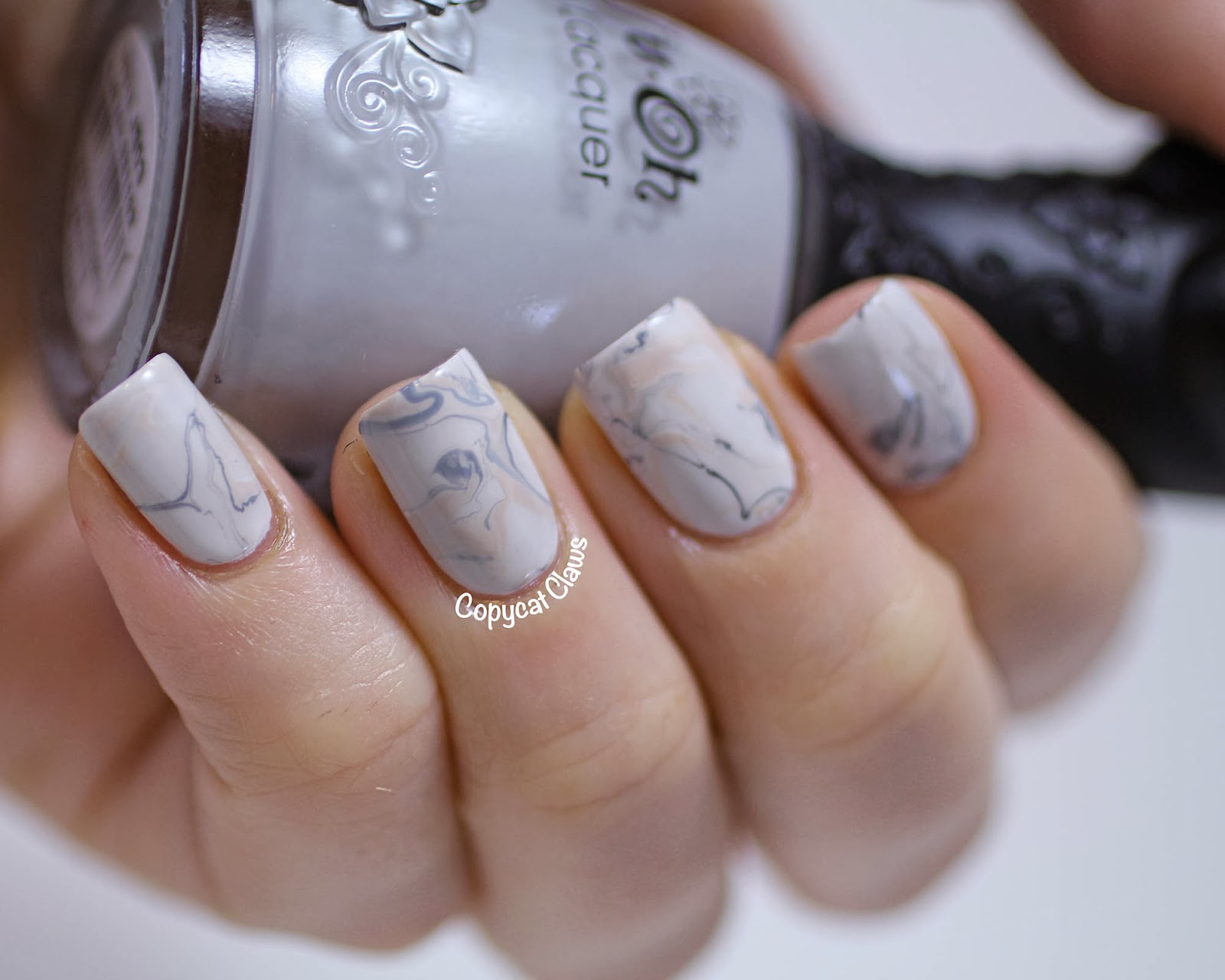 Copycat Claws Marble Nail Art