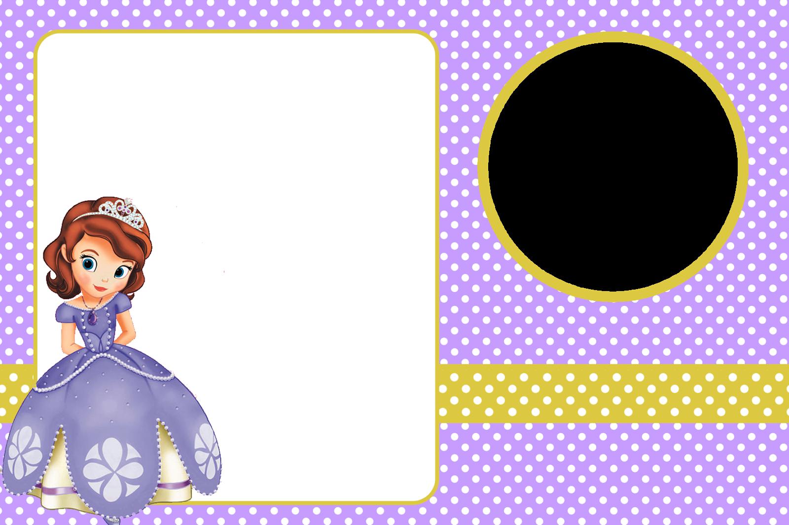 Princesa Sofía Imprimibles Y Tarjetas O Invitaciones Gratis