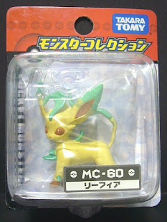 Leafeon Pokemon figure Tomy Monster Collection MC series