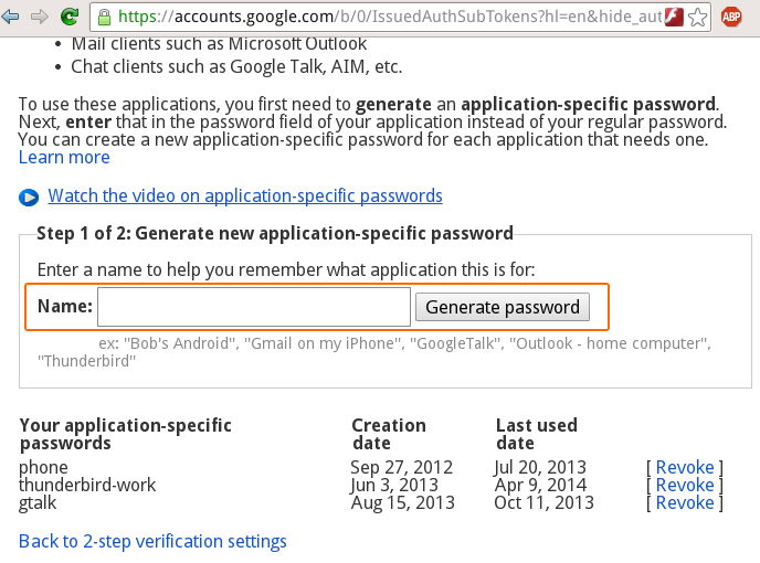 Python, Linux, KDE: Having a separate password for GTalk?