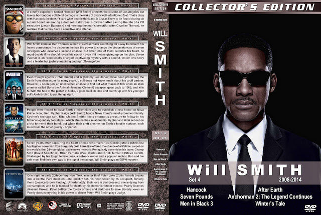 Will Smith Collector's Edition Set 4 2008-2014 DVD Cover