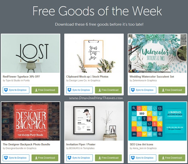 Free goods of the week download now!
