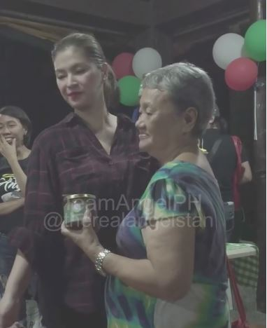 WATCH: Angel Locsin's Priceless Reaction When She Was Received A Gift From The Staff Of Anawim