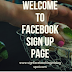 Welcome To Facebook Sign Up Page