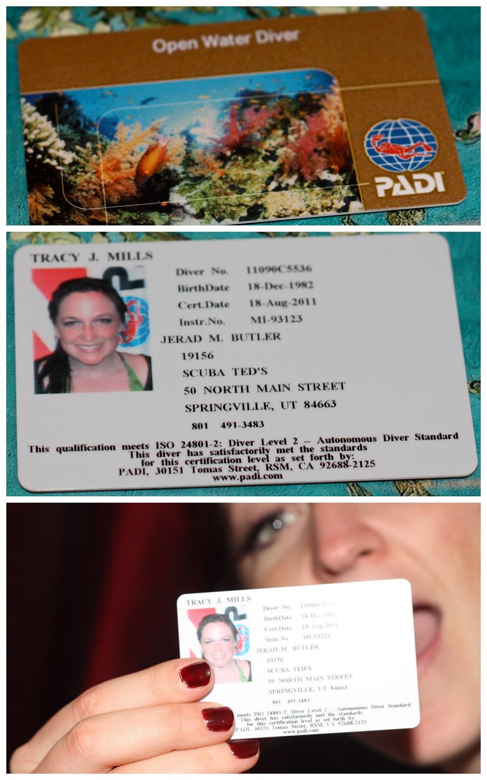 scuba card certification month mail got ago