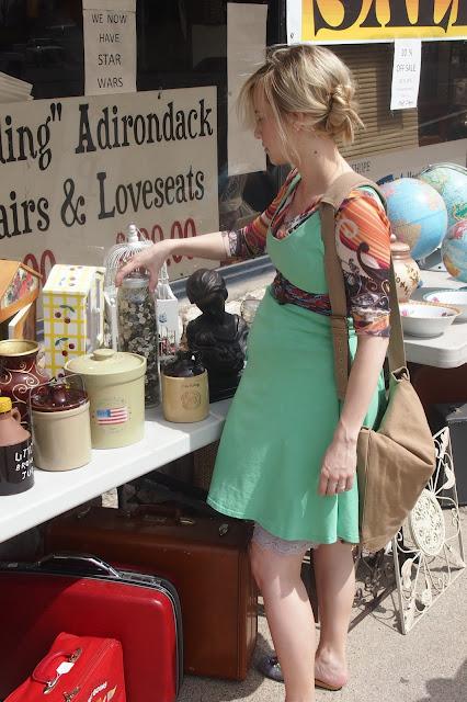 organic+dress+gone+thrifting - My Mint Swirl Skater Dress & A Thrift Trip