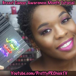 Breast Cancer Awareness Inspired Tutorial  #UrbanDecay Full Spectrum Palette