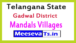 Gadwal District Mandals Villages In Telangana State