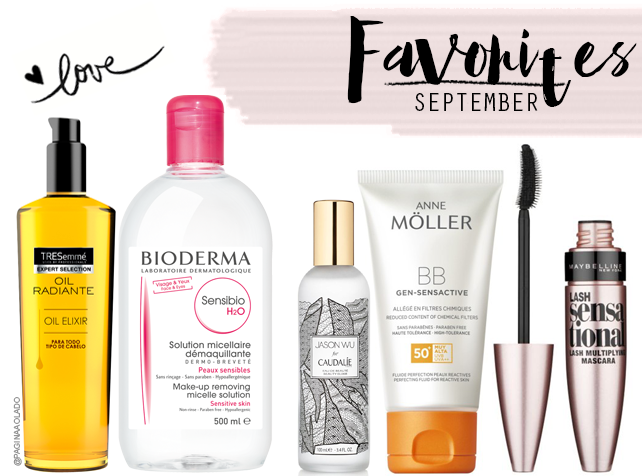 Favorites, Makeup, Beauty, Beleza, Moda, Cosméticos, Top5, Bioderma, Tresemmé, Caudalie, AnneMoller, maybelline