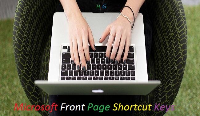 Microsoft-Front-Page-Ke-Kuchh-Shortcut-Key