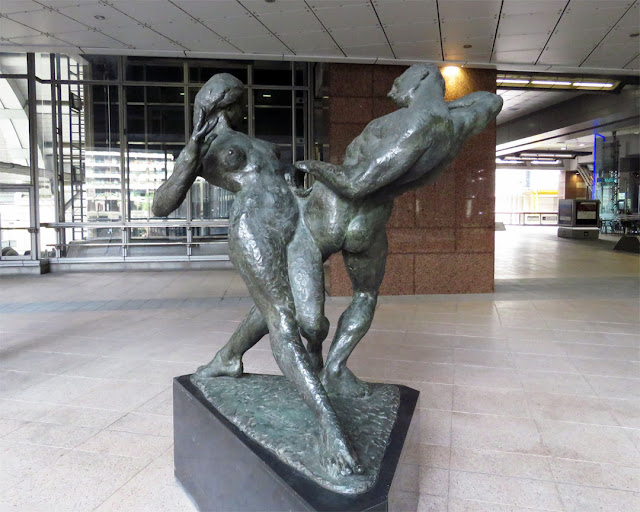 Unity by Ivan Klapez, Alban Gate atrium, London Wall, City of London