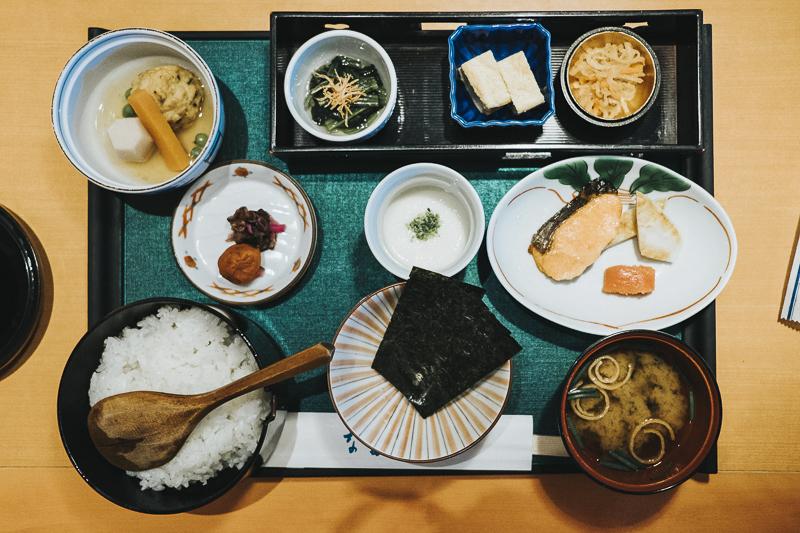 Japanese breakfast in Tokyo, Japan