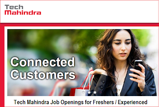 Urgent Jobs at Tech Mahindra for Freshers / Experienced (BE/BTech/MCA/BCA/BSc)