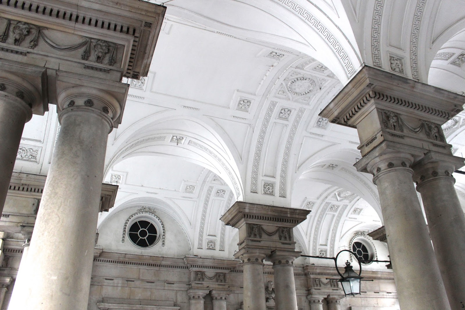 Somerset House entrance architecture ceiling