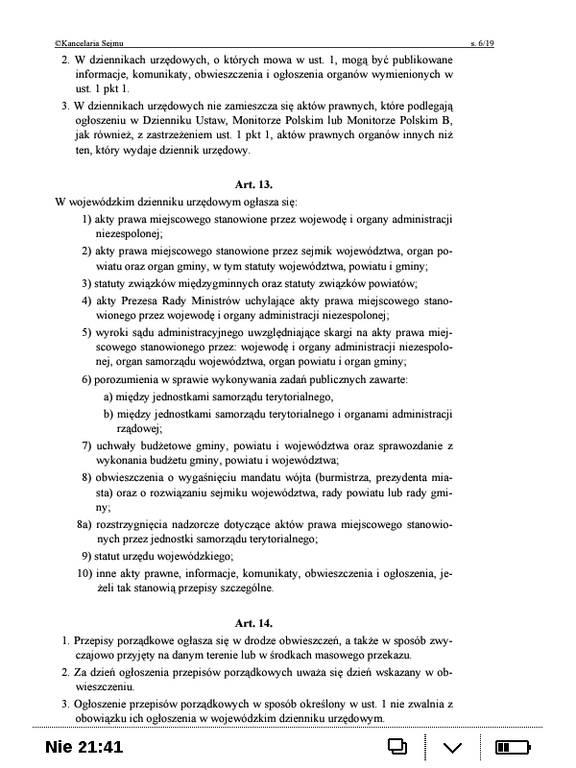 PocketBook Basic Touch 2 Save & Safe – plik PDF przed przycięciem marginesów
