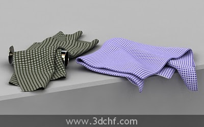 free 3d model kitchen towel
