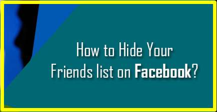 How To Hide Friend List On Facebook