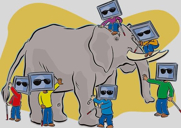 Thơ chế thầy bói xem voi đọc cười toe toét sự đời