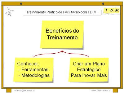 Ganhos Treinamento Facilitação Workshop Estratégia Inovação