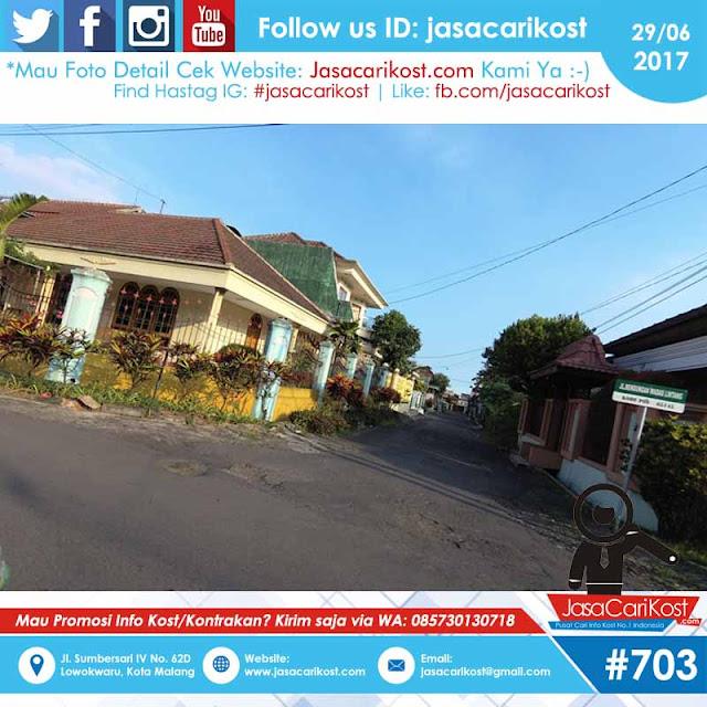 Area Kost di Jalan Bendungan Malang