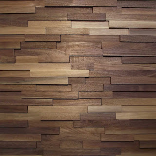 Dimensional reclaimed wood accent wall