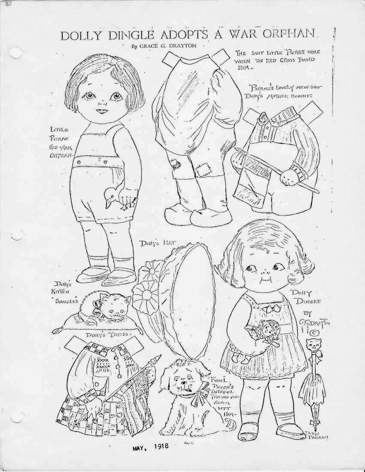Miss Missy Paper Dolls: Dolly Dingle Identification Guide