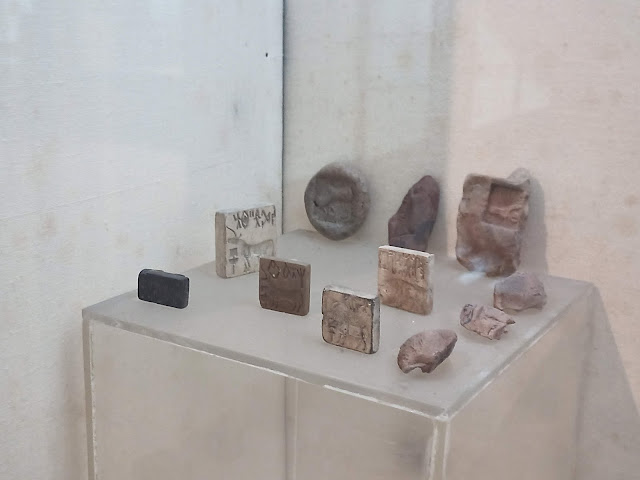 Ancient Indus Valley stamp seals and seal impressions in clay with undeciphered script and animal iconography, including the unicorn motif