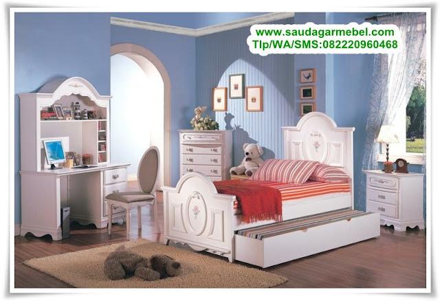 Set Tempat Tidur Anak Perempuan Cat Duco, Kamar Set Anak Cat Duco, Tempat Tidur Anak Perempuan Cat Duco, Tempat Tidur Anak Murah, Tempat Tidur Anak Minimalis, Kamar Set Anak Hello Kitty