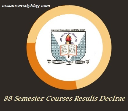 List of CCS University Semester Results [33 Courses] released