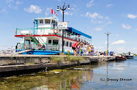 Orillia's Island Princess tour boat on Canada Day, parked at the docks.