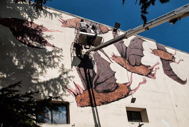 Street Art Collaboration By Ericailcane and Bastardilla For Festival Filosofia In Modena, Italy. 3