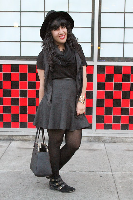 LE TOTE Search for Sanity Skater Skirt