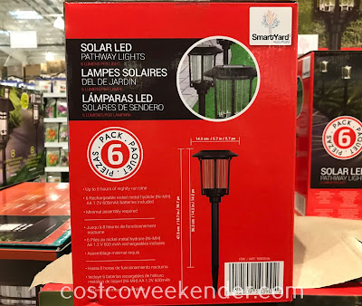 Costco 1900546 - SmartYard Solar LED Pathway Lights help light up the outside of your home