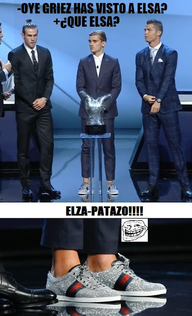 MEME GRIEZMANN ELZAPATAZO ZAPATOS UEFA BEST PLAYER